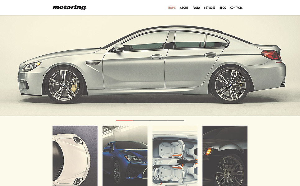 Responsive Website Vorlage für Automobilclub  New Screenshots BIG