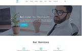 Responsive Website Vorlage für Softwarefirma