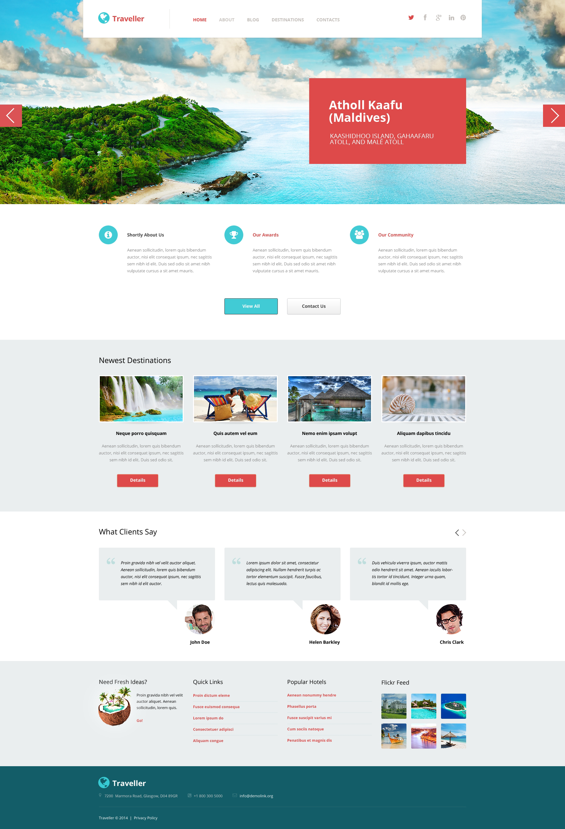 Responsives WordPress Theme für Reisebüro #50744