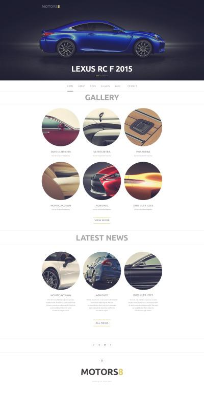 Responsywny motyw WordPress #50763 na temat: samochody