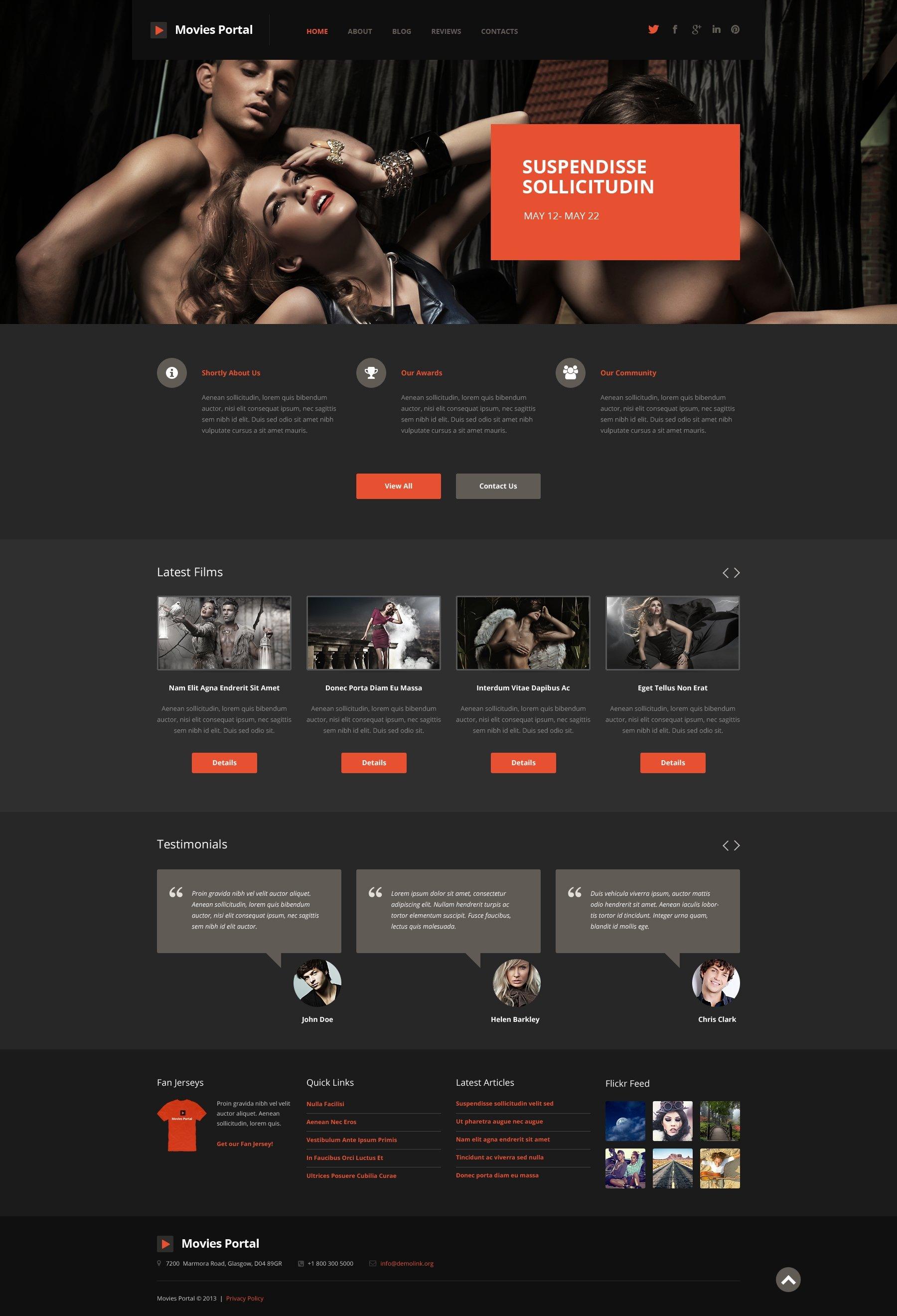Responsywny motyw WordPress Entertainment.Movie Template #50741