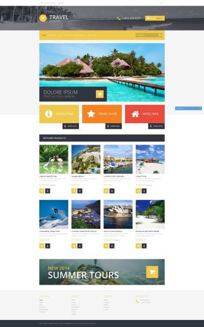 Travel Agency Responsive Shopify Motiv