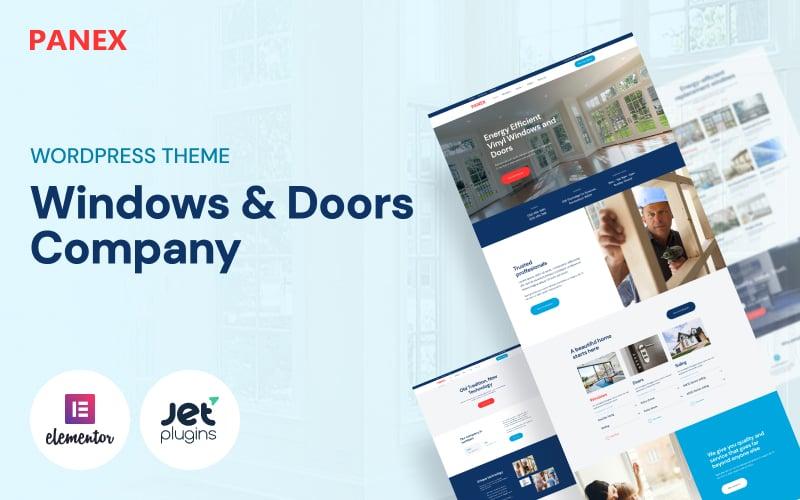 Reszponzív Panex - Windows and Doors WordPress sablon 50739