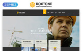 """Roxtone - Construction Company Responsive Creative HTML"" modèle web adaptatif"