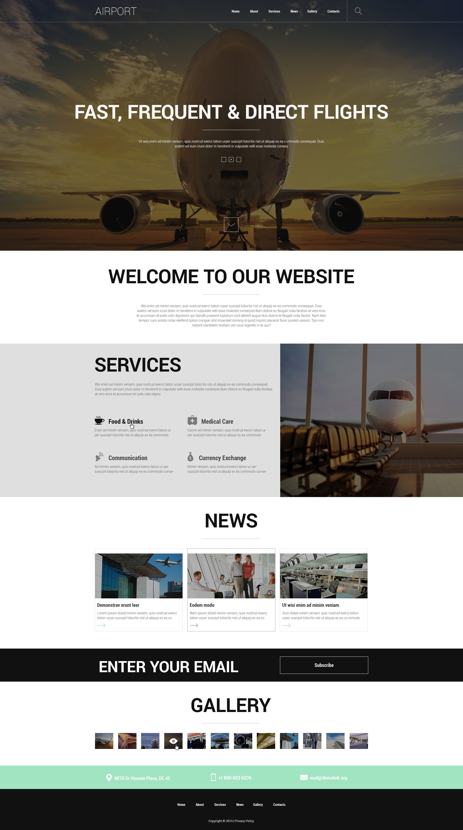 Safety at Airports Joomla Template