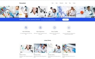 Scientist - Science Lab Clean Joomla Template