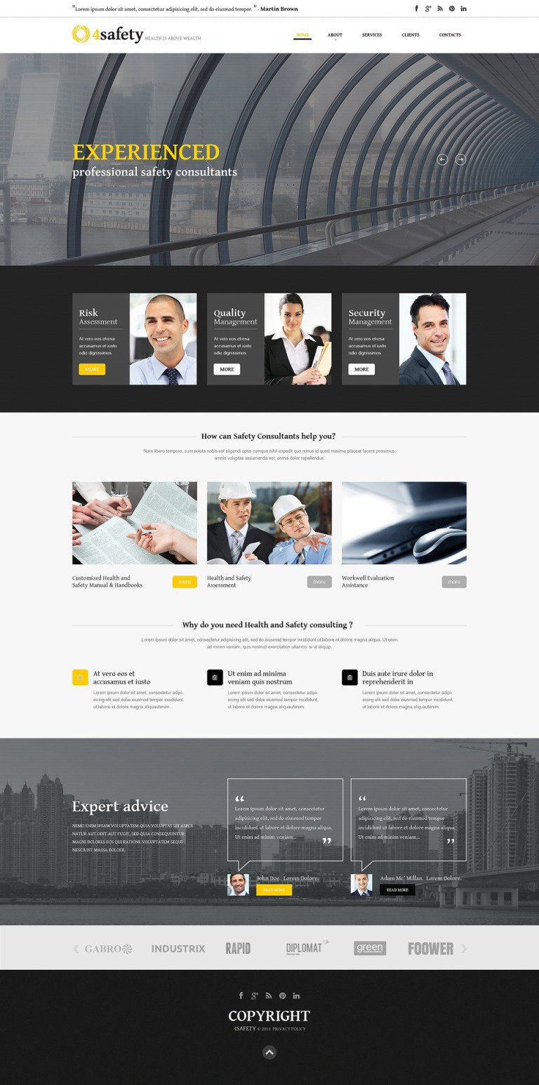 Security Responsive Website Template New Screenshots BIG