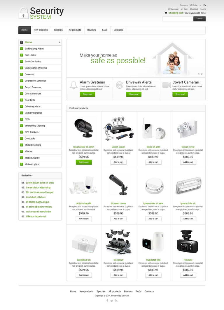 Security ZenCart Template New Screenshots BIG