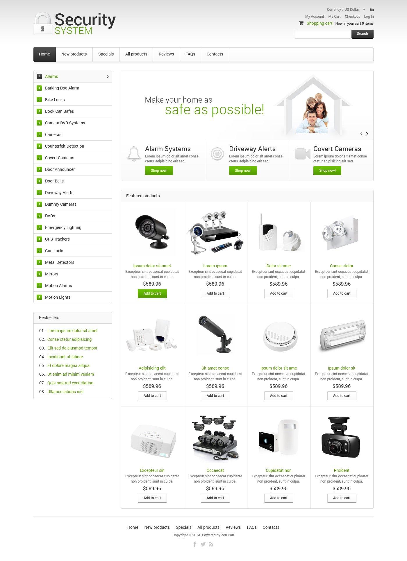 Security ZenCart Template