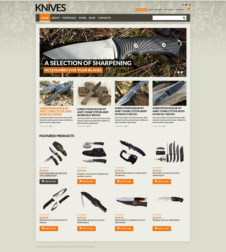 Sharp Blades Store WooCommerce Theme New Screenshots BIG