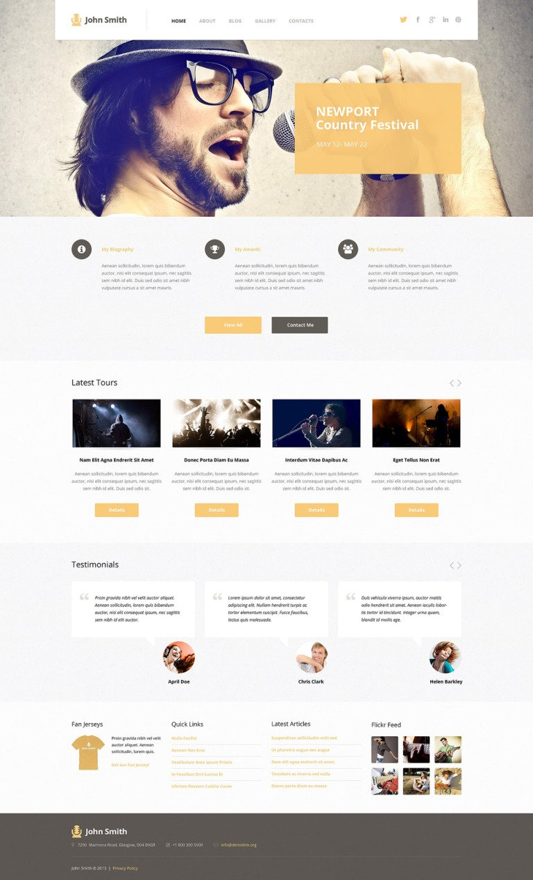 Singer Responsive WordPress Theme New Screenshots BIG