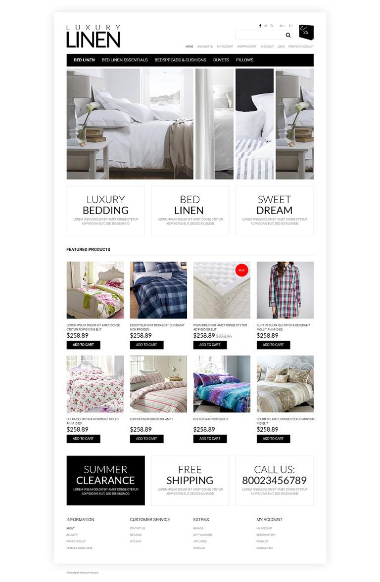 Soft, Luxury Linen OpenCart Template New Screenshots BIG