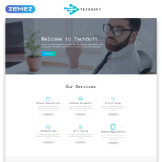 Professional website templates templatemonster techsoft business software multipage html5 parallax website template cheaphphosting Image collections