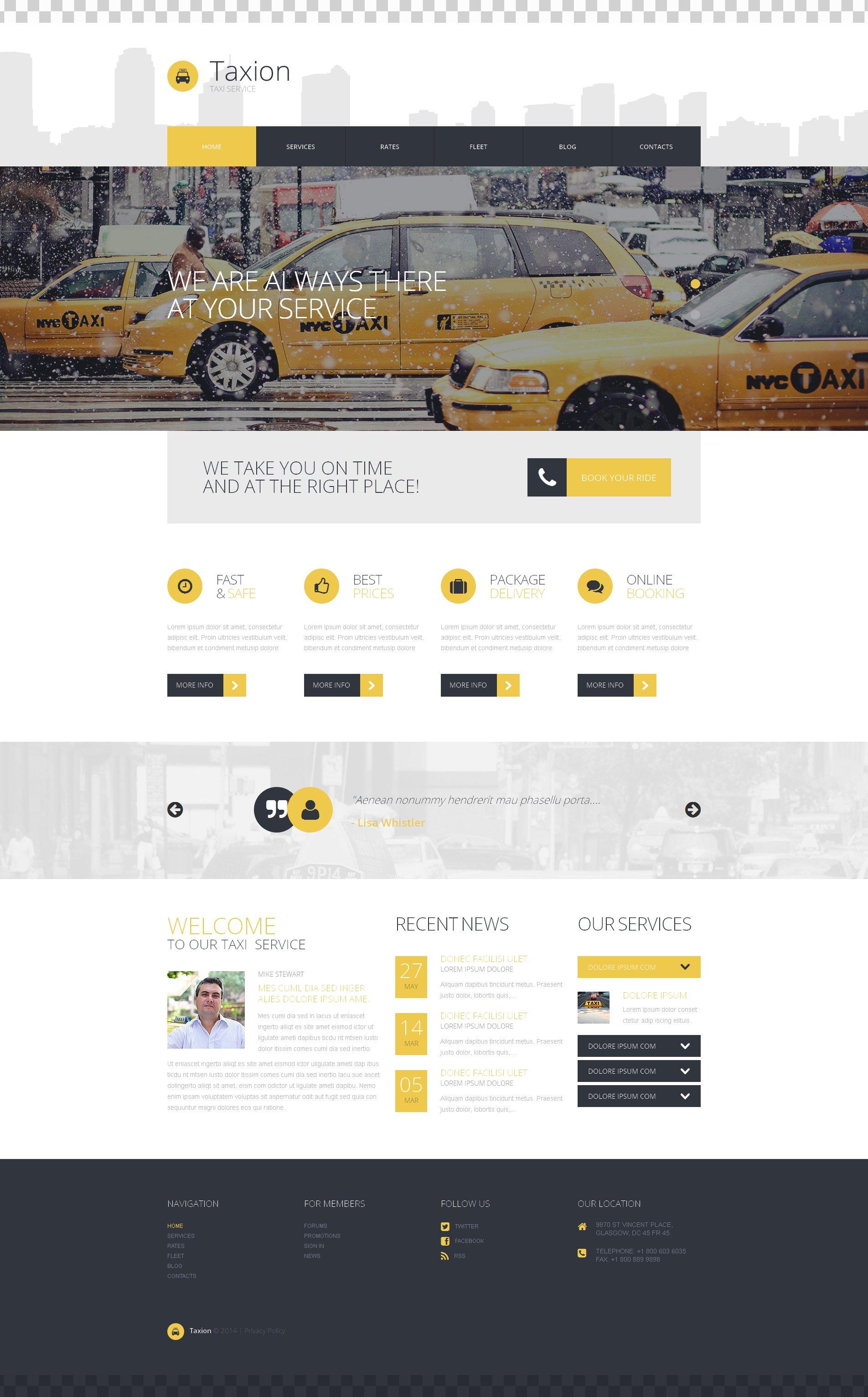 "Tema De WordPress ""Fast and Furious Cabs"" #50723"