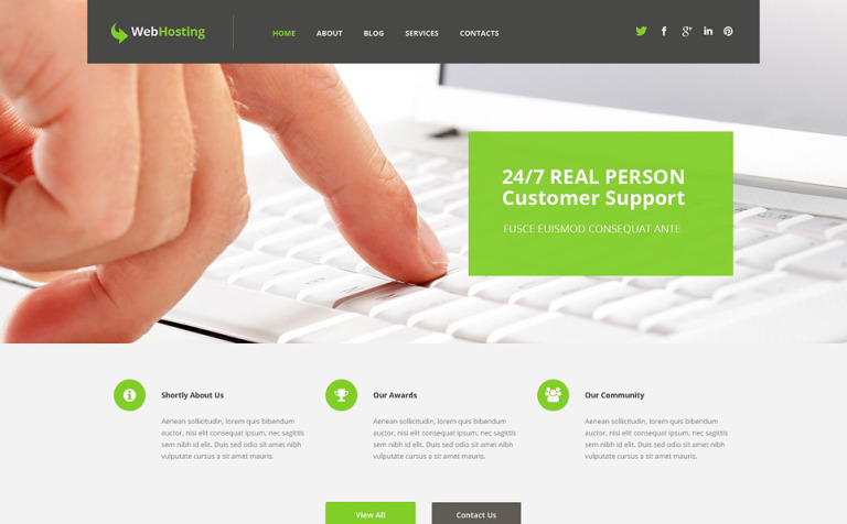 Tema de WordPress #50742 para Sitio de Hosting