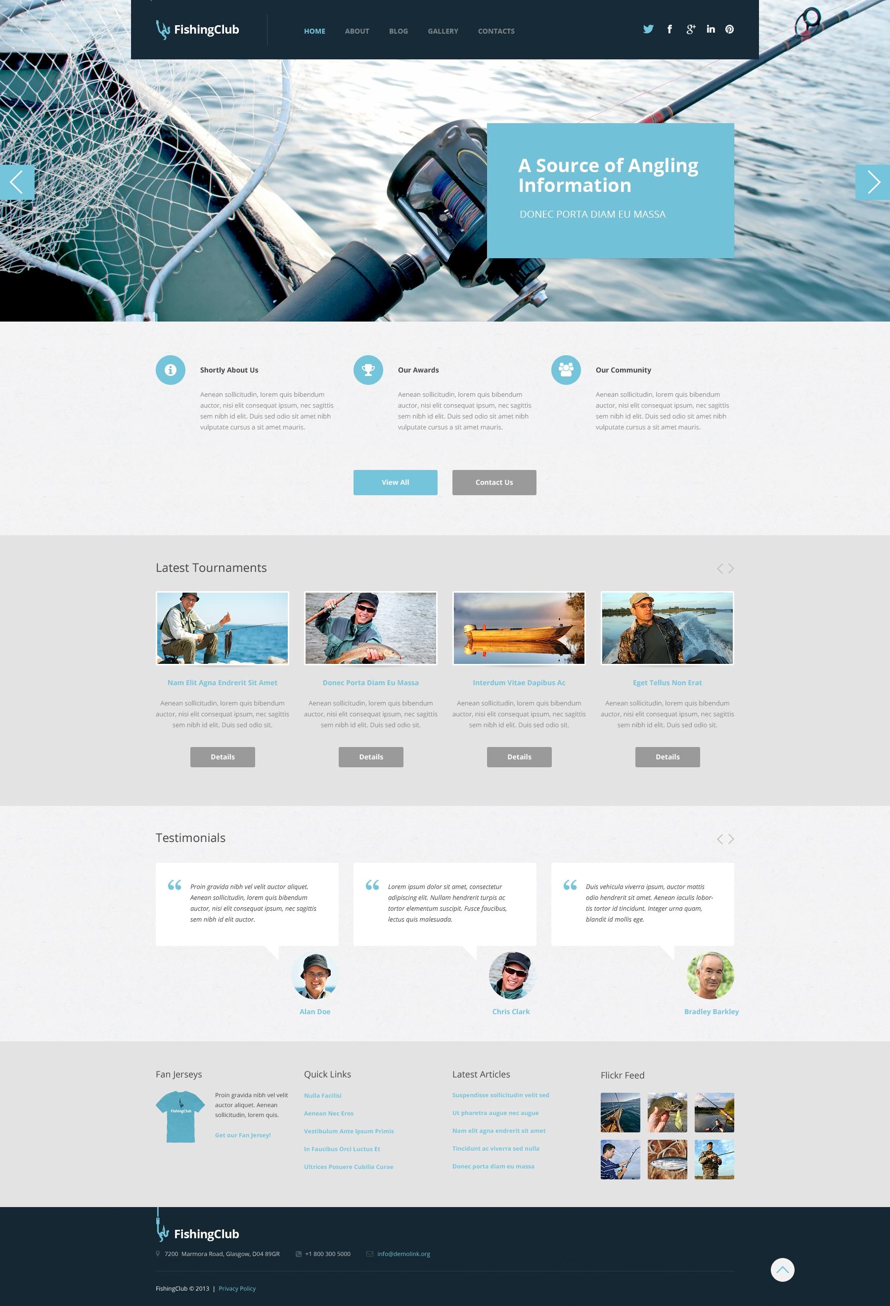 Tema De WordPress Responsive para Sitio de Pesca #50743 - captura de pantalla