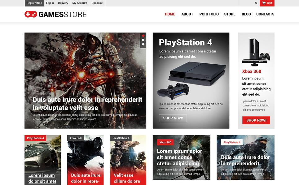 Tema WooCommerce Responsive #50724 per Un Sito di Giochi New Screenshots BIG