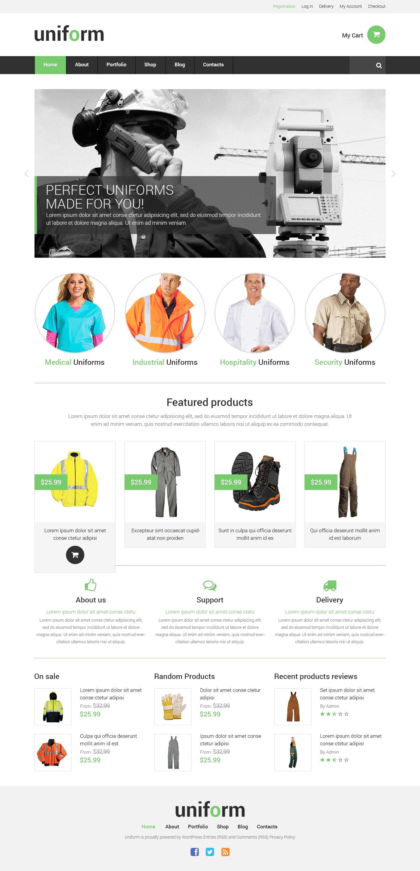 Tema WooCommerce Responsive #50745 per Un Sito di Negozio Uniformi - screenshot