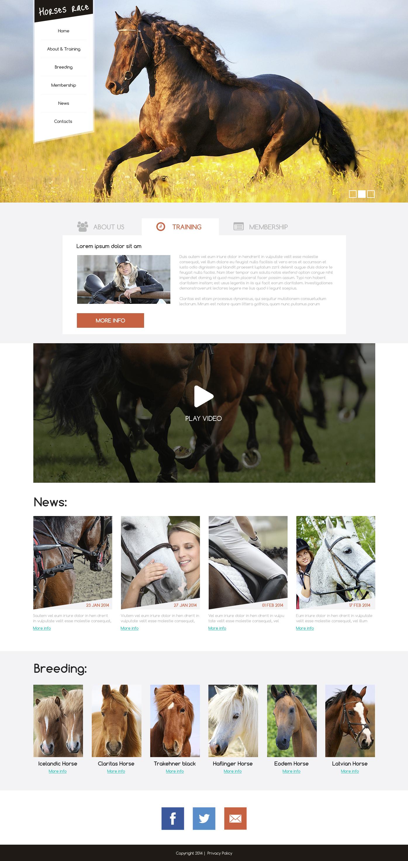 Template Drupal para Sites de Corrida de Cavalos №50788