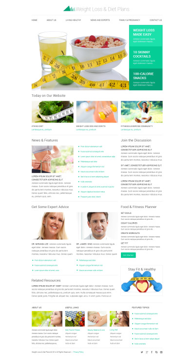 Flexível template Web №50727 para Sites de Emagrecimento