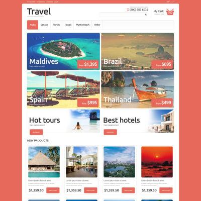 Thème Magento adaptatif  pour site d'agence de voyage