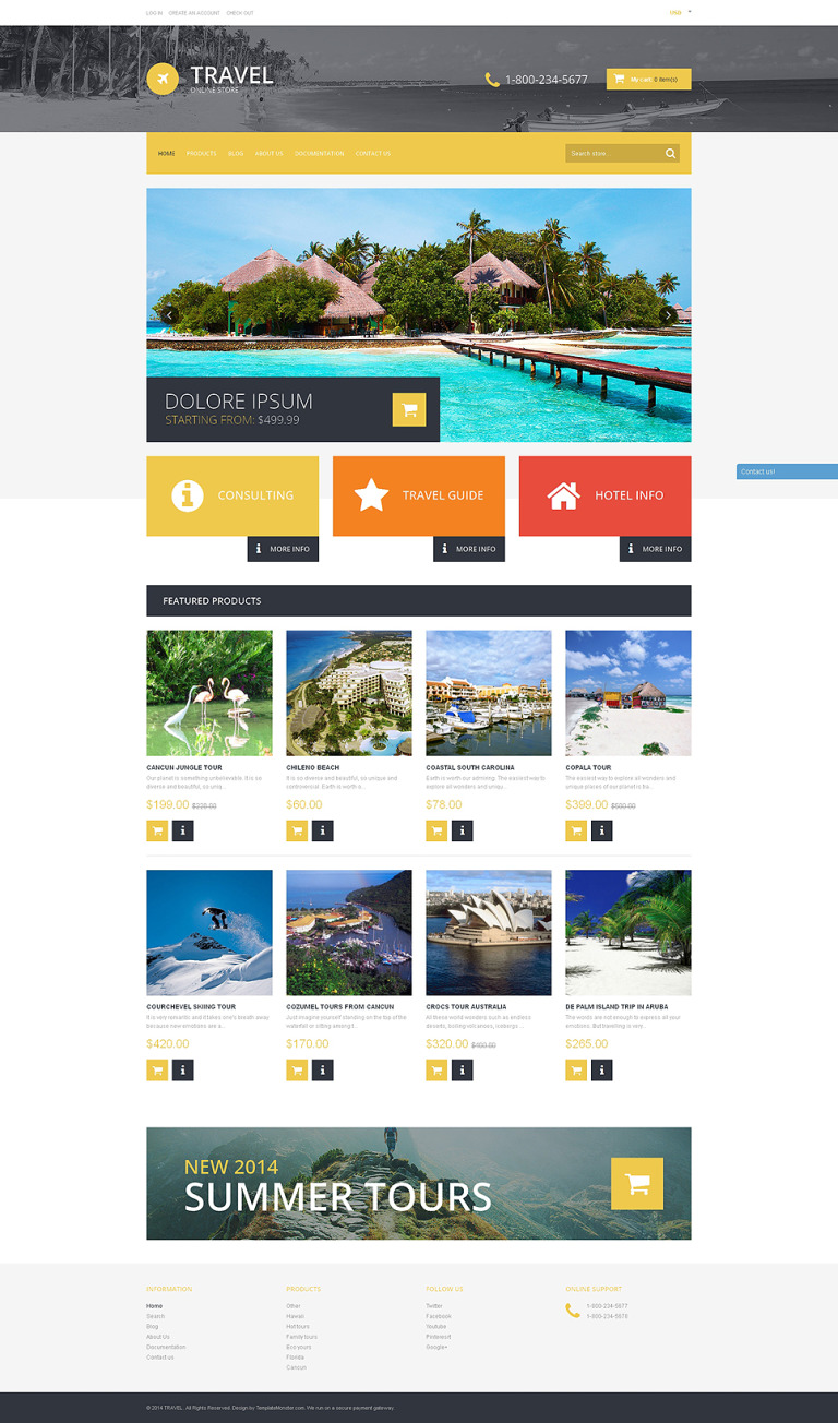 Travel Destinations Shopify Theme New Screenshots BIG