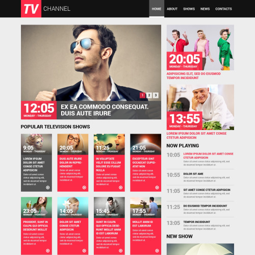 TV Channel - Website Template based on Bootstrap