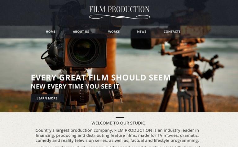 Video Lab Responsive Website Template - Cinematographer website templates