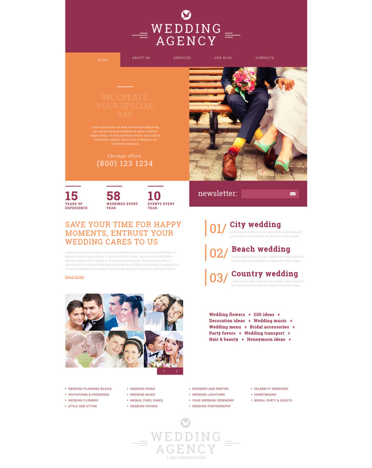 Wedding Agency Joomla Template New Screenshots BIG