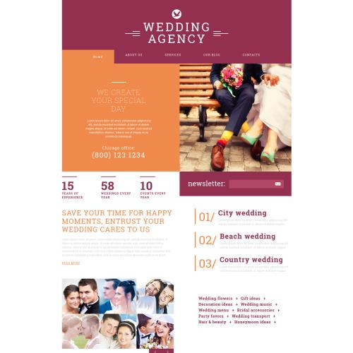 Wedding Agency - Joomla! Template based on Bootstrap