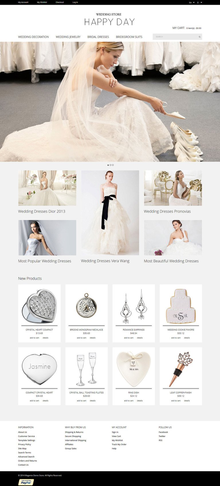 Wedding Store Magento Theme New Screenshots BIG