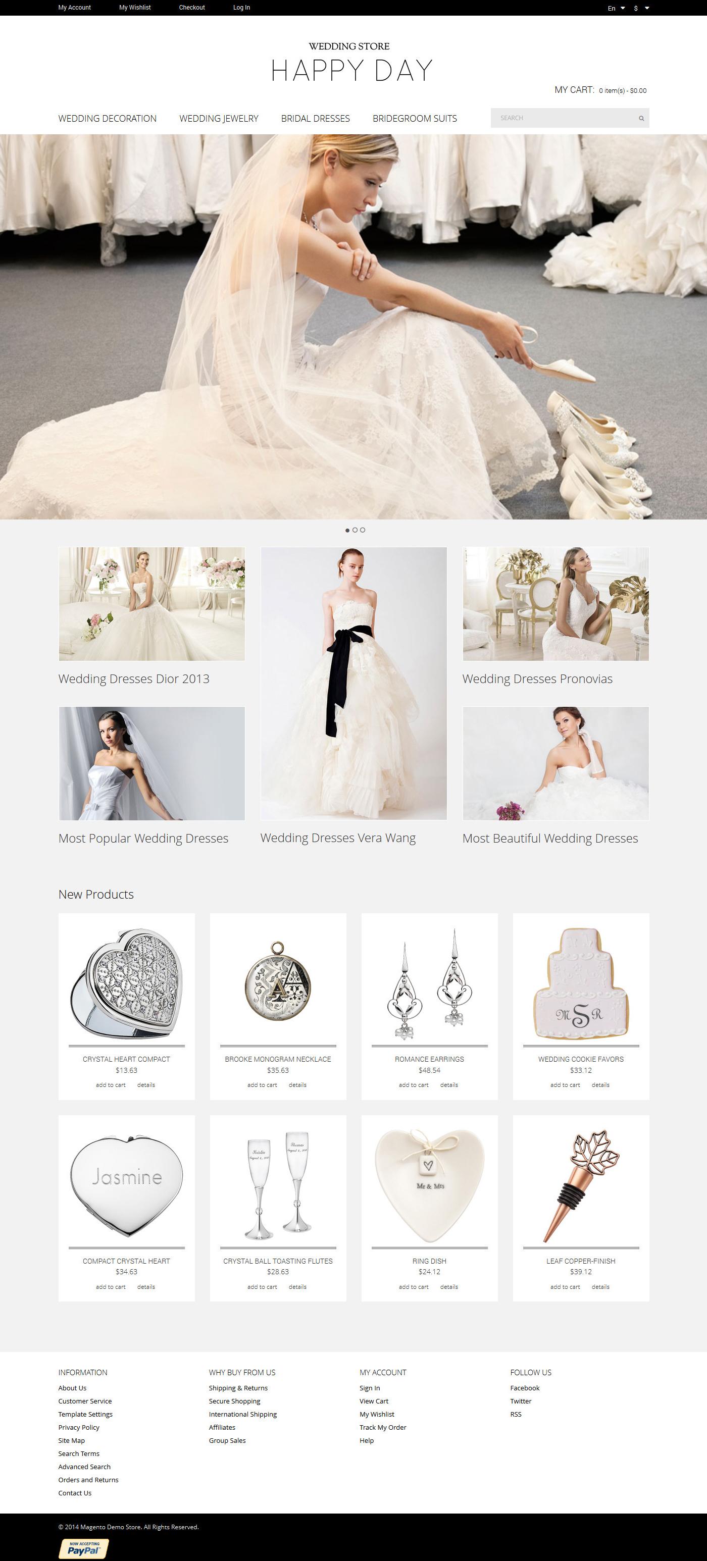 Wedding Store Magento Theme