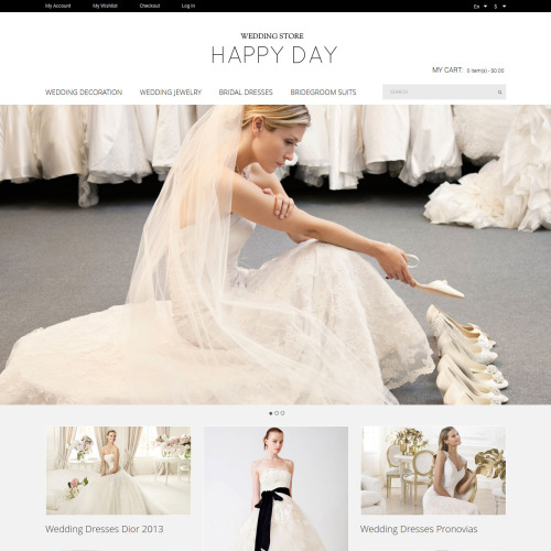 Happy Day Wedding Stores - Responsive Magento Template