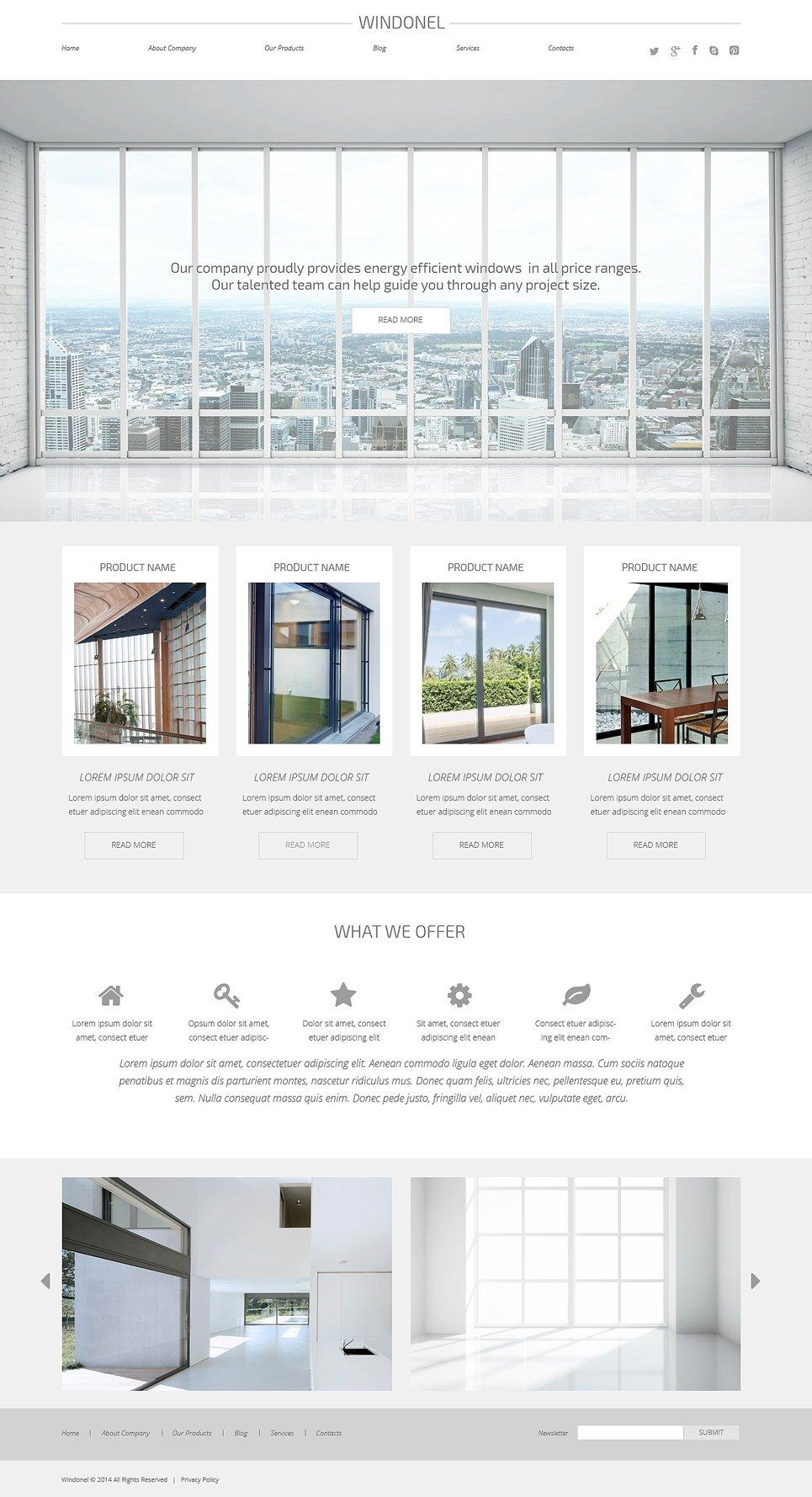 Windows Doors Responsive Wordpress Theme 50739