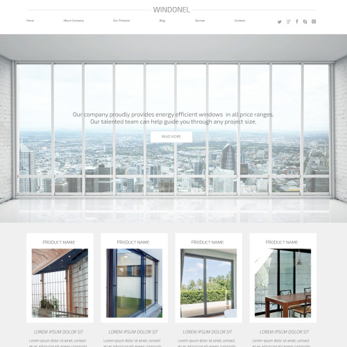 Windonel - WordPress Template based on Bootstrap