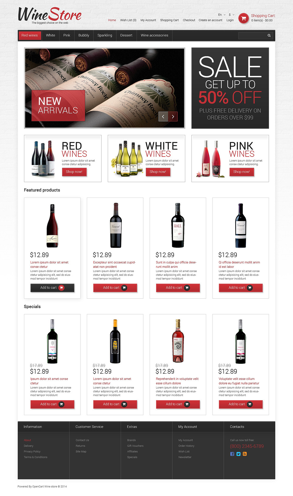 Wine Responsive OpenCart Template New Screenshots BIG
