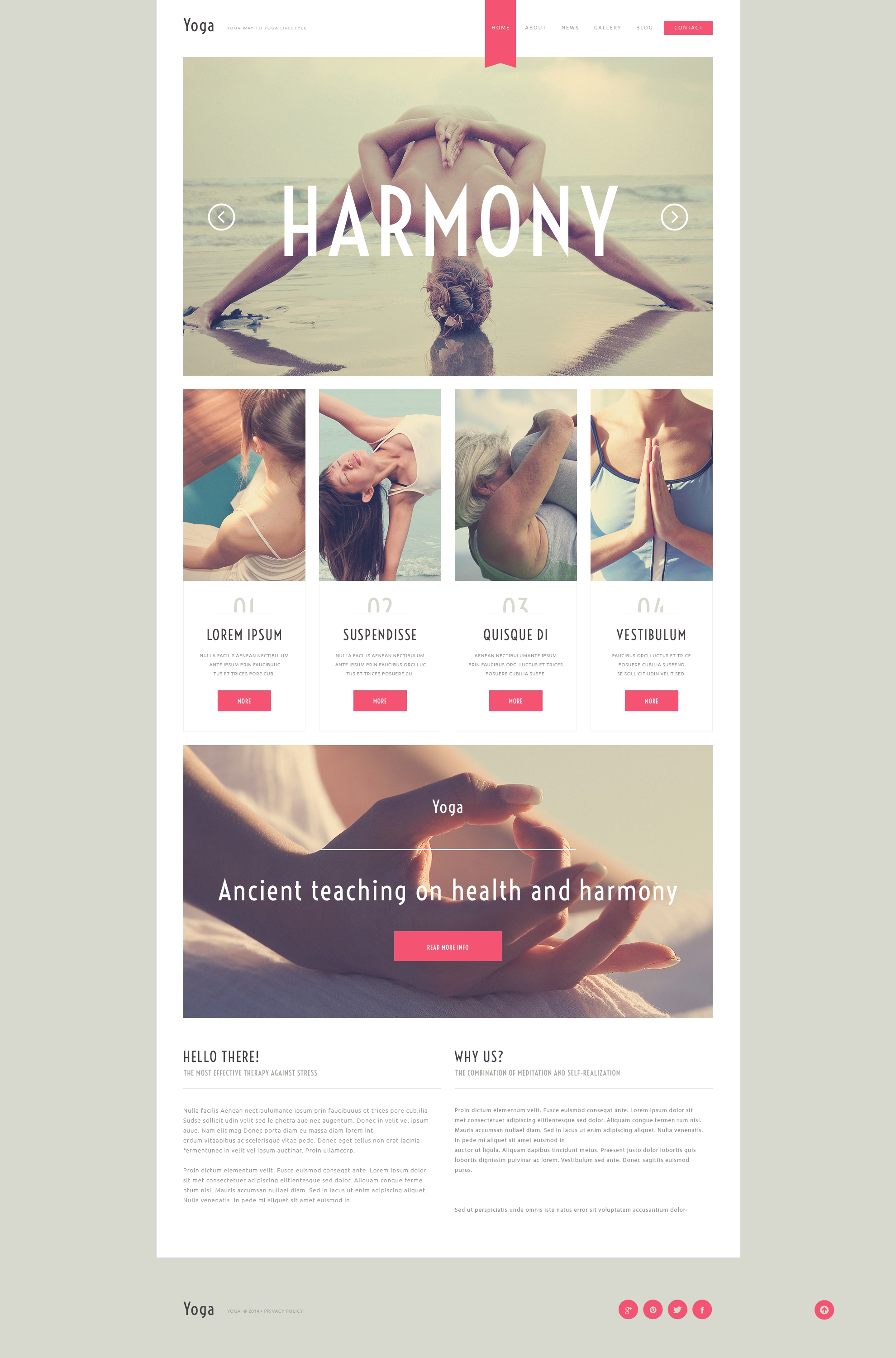 Yoga Responsive WordPress Theme - screenshot