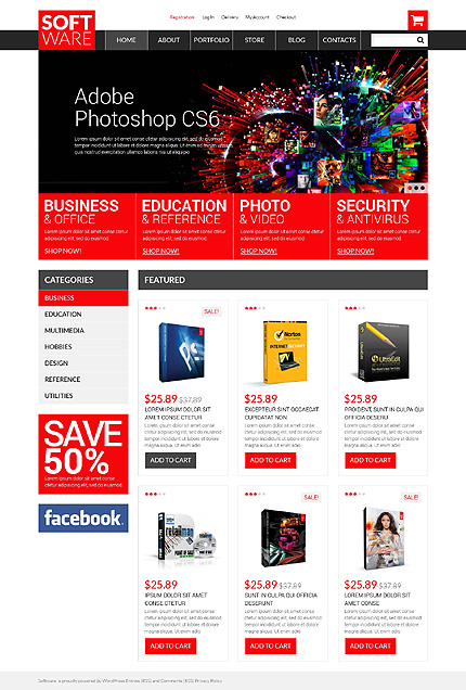 ADOBE Photoshop Template 50810 Home Page Screenshot
