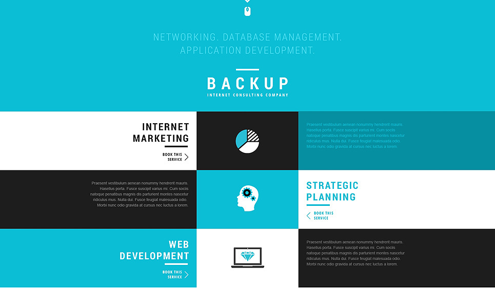 Responsive WordPress thema over Marketingbureau New Screenshots BIG