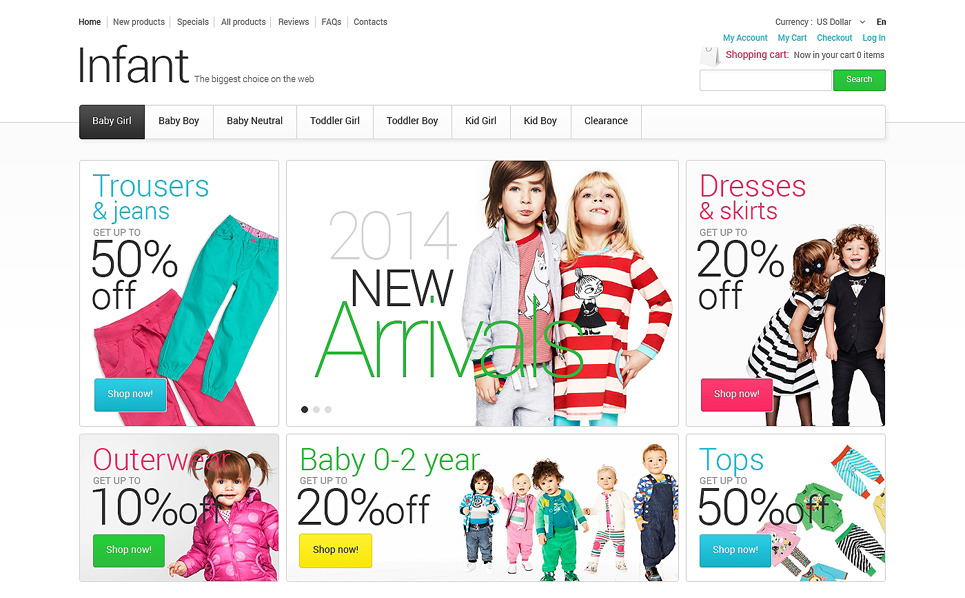 ZenCart Vorlage für Bekleidung  New Screenshots BIG