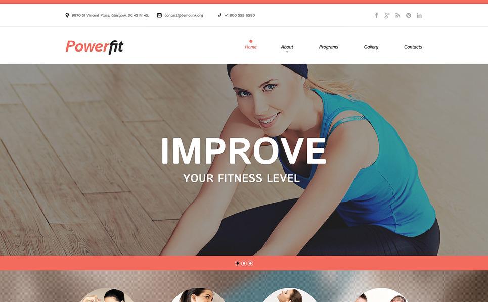 Responsive Website template over Fitness New Screenshots BIG