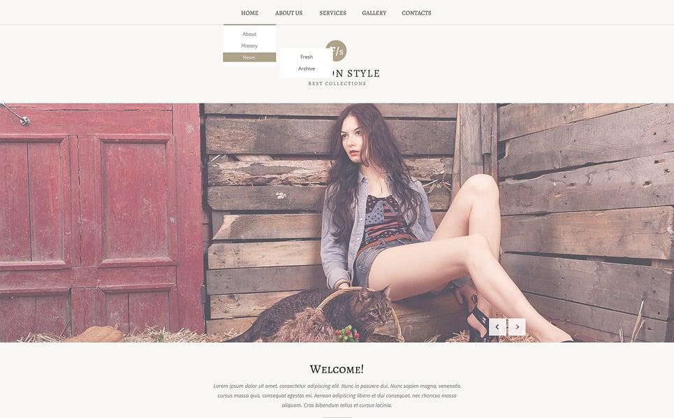 Reszponzív Divat  Weboldal sablon New Screenshots BIG