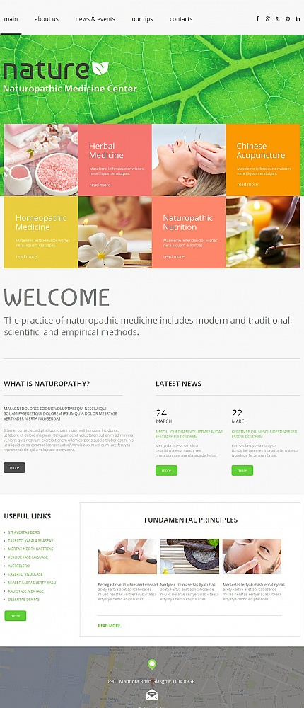 ADOBE Photoshop Template 50823 Home Page Screenshot