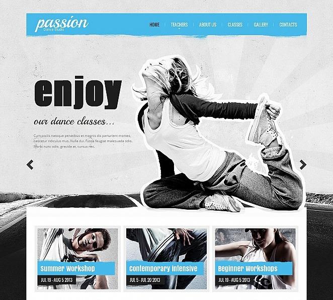 MotoCMS HTML шаблон на тему школа танців New Screenshots BIG