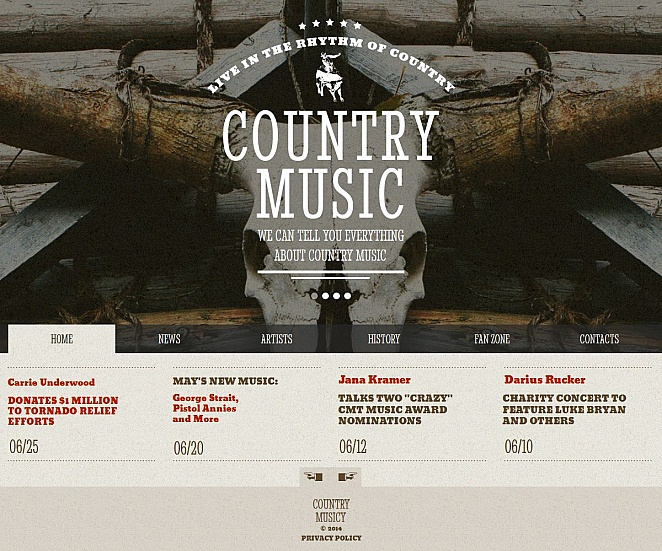 Country Music Website Template - image