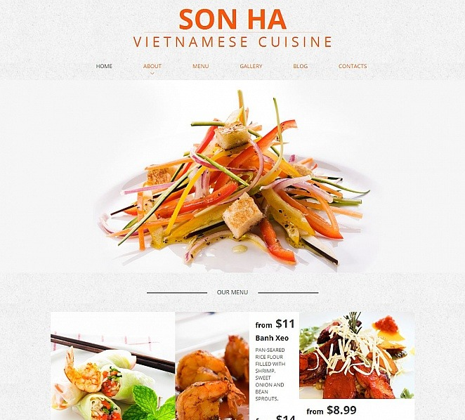 Template Moto CMS HTML para Sites de Restaurante Vietnamita №50829 New Screenshots BIG