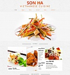 Cafe & Restaurant Moto CMS HTML  Template 50829