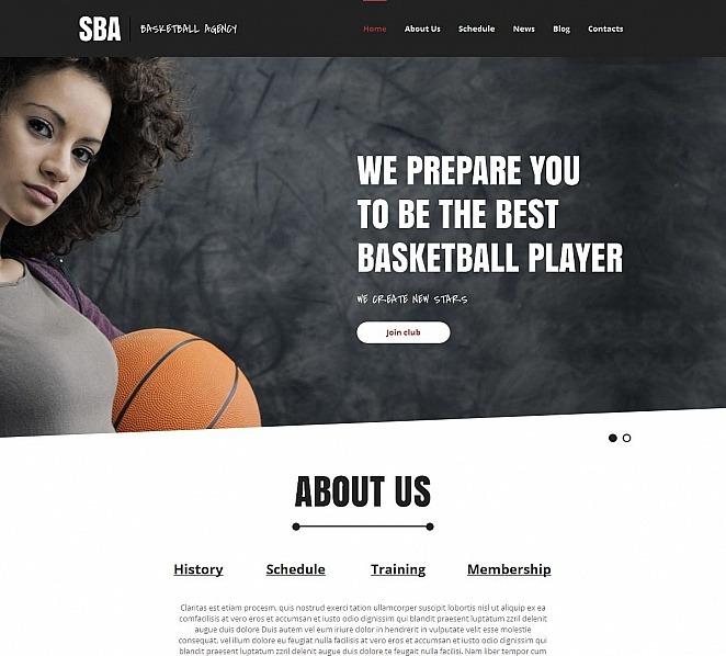 Premium Moto CMS HTML Template over Basketball  New Screenshots BIG
