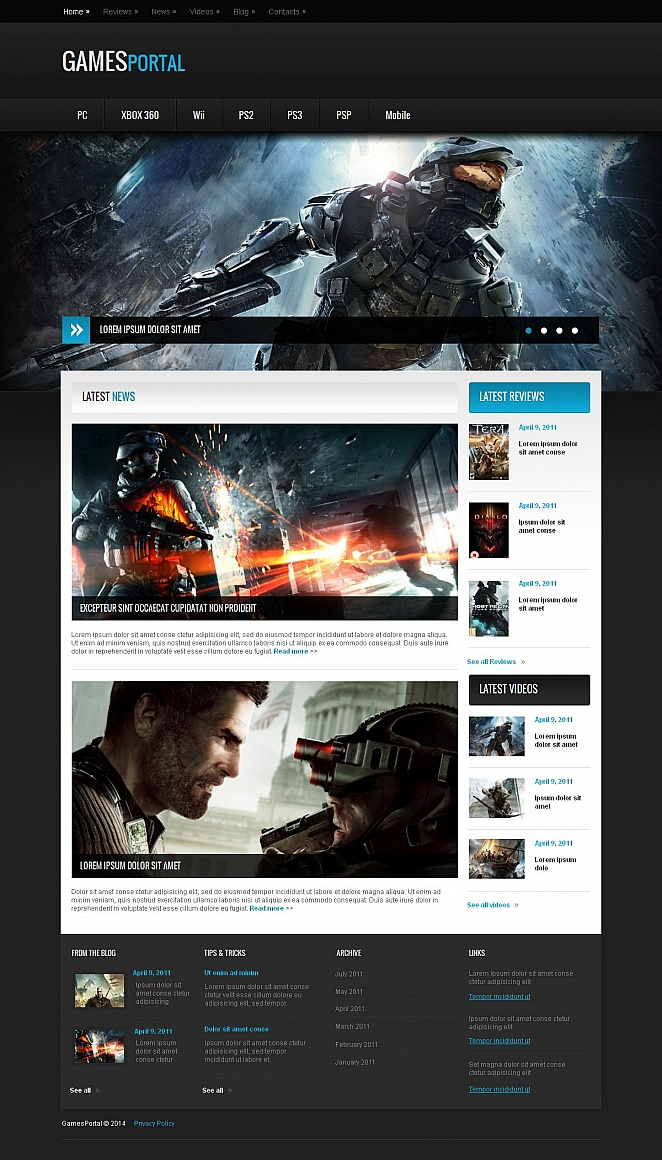 Game Website Template with Admin Panel - image