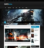 Games Moto CMS HTML  Template 50831